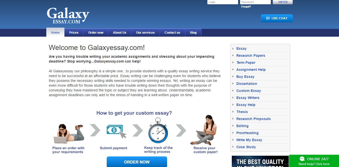 GalaxyEssay.com Review